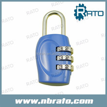 three dial code high security travel lock
