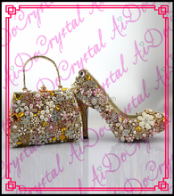 Aidocrystal Fashion style shoes and bags for party/ladies shoes and matching bag