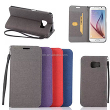 For Samsung Galaxy S6 Edge Clothes Pattern Leather Case