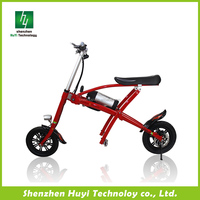 Chinese 2016 new style CE 12 inch mini folding electric motorcycle bike with good price