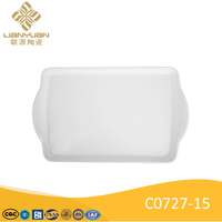 19 inch rectangle ceramic serving tray restaurant plates