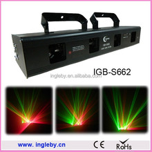 Red and Green disco 4 head indoor disco laser lights