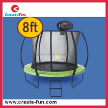 CreateFun 8ft biggest outdoor jumping sport trampoline with basketball hoop