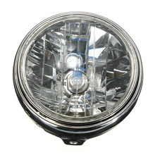 "12V 7"" 35W H4 Motorcycle Rear Mount Head Lamp Headlight Bulb For Honda Kawasaki Suzuki Yamaha"