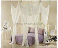 Natural white rectangular hanging mosquito bed nets for romantic bedroom