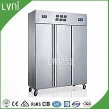 1600L Stainless Steel Three Doors Commercial Kitchen Refrigerator