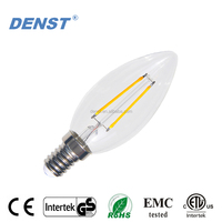 Best Price E14 C35 2W 250 lumens Filament LED Candle Bulbs