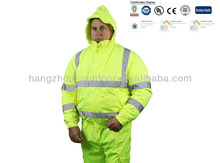 300D PU Coated 160GSM Cotton Padded Workwear Winter Work Jackets