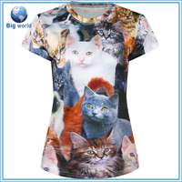 print T Shirts women 3D tshirt women O Neck women T-Shirt Top Euro Size Tees Shirt