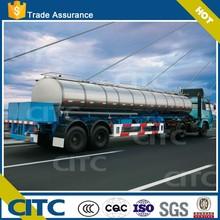 CITC diesel oil engine tank /47 CBM aluminum alloy tank truck/ fuel transport tanker semi truck