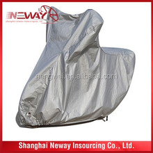 Polyester coated with silver 100% waterproof motorcycle cover