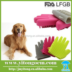 Pet Dog Cat Washing Hair Bath Glove Silicone Massage Gloves for pet
