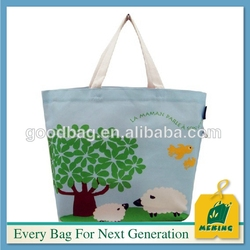 2016 wholesale recyclable and organic shopping tote bag in high quality