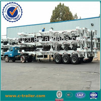 3 axles second hand 40ft skeleton container semi trailer