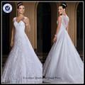 serviço personalizado 2015 vestido noiva de de gola v manga cap sexy espartilho vestido de casamento alibaba
