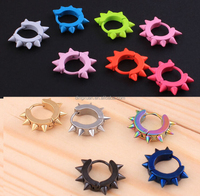2013 New Fashion Earring Colorful Enamel gold plated Rivet Earrings