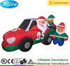 Inflatable Christmas Santa Claus Driving Mechanic Car Tire Inflation Outdoor Decoration
