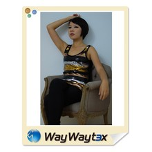OEM NO1 bling bling knit sleeveless woman clothes made in Vietnam