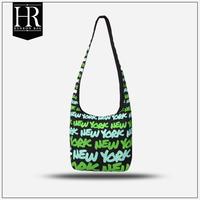 beautifully printed city name printed canvas bag