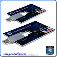 Business credit card 2.0 USB flash drive with customized logo, business card usb flash drive