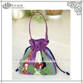 designer japonês bordado pequeno cordão sacos