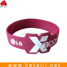 Promotional gift silicone bracelet silicone wrist band , elastic wrist band , silicone elastic bands