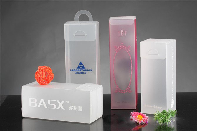 custom clear paper transparent plastic packaging box