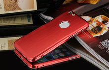 ITECHLY aluminum mobile phone hard cases with metal for iphone 6, wholesale cheap cell phone accessories