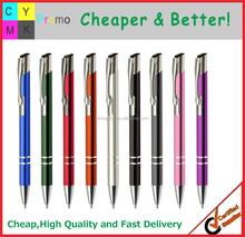 2015 Cheap metal material logo printed metal desk pen