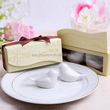 Bird shape pepper shaker colorful printing salt pot ceramics wedding return gift seasoning box 05-1