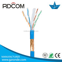 high qualityCCA cat6 cable lan 100% fluke passed sftp cat6 copper network cable price per meter