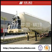 Dry Powder Material Bulk Cement Silo Tanker Truck Trailer/ Bulk Cement Tank Semi-trailer