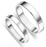 Exotic top quality 18k white gold solid 925 silver couple ring