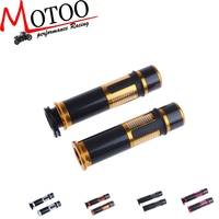 """Motoo - Motorcycle Motor 22mm 7/8"""" Carbon Fibre Handlebar Hand Grips With Bar Ends Fit for KawasakI Z750"""