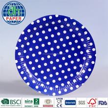 Fancy Paper Plates( Blue Polka Dot Paper Plates)