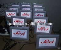 "picture for frame MP3 clock on the table / wall 7"" with customer logo"