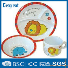friendly &colorful melamine children dinnerware Sets