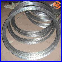 High protective BTO-12 hot dip galvanized razor wire installation/razor barb wire