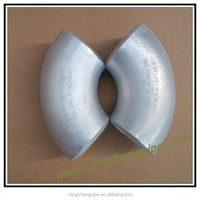 high quality aluminum butt welded LR 90 degree elbow
