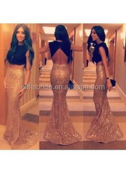 e129 black and gold fashion evening dress wedding dress with haute couture evening dresses