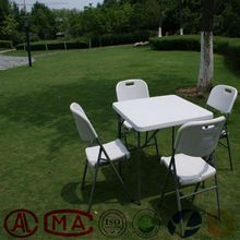 Outdoor folding plastic furniture study table, square table