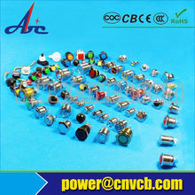 12mm micro led push button switch switch