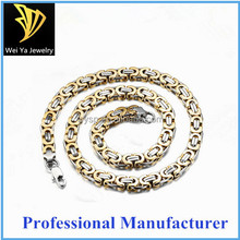 2015 Fashion Jewelry Stainless Steel men's Titanium Steel Gold Chunky Chain Necklace