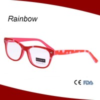 Custom brand and logo bright red color glasses frame to change color oval shape eyewear kid optical frame