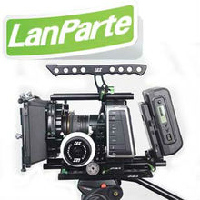 Lanparte professional follow focus matte box shoulder rig with Black Magic camera cage