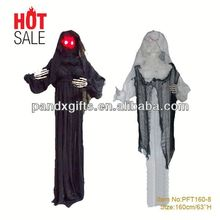 "63""Light Up Red Eyes Animated hanging Horror Prop Halloween Decor"
