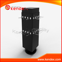 countertop accessory wood rotating jewelry display stand