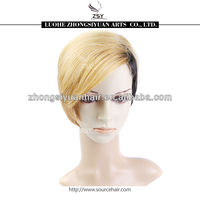 ZSY fashionable higher quality low price blonde synthetic full lace front wigs