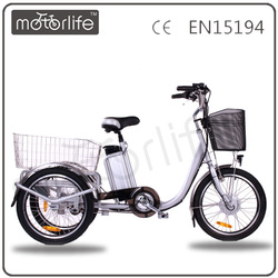 MOTORLIFE/OEM brand 36v 250w 20inch three wheel electric vehicle for old people