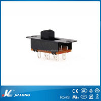 DC 50V 0.5A Double Pole Double Throw 2 Position 2P2T DPDT Slide Switch 6 Pin